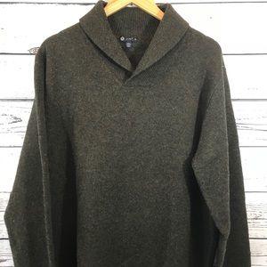 J CREW Mens Lambswool Shawl Collar Sweater XL